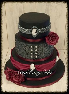 Gothic wedding-dresses,cakes,tables,invites..beautiful! on ...