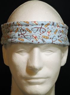 Ultimate Sweatband/Headband - Nurse Blue by BondPracticalProduct on Etsy