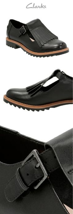 4aa3a48674 The Griffin Mia from Clarks is made with premium black leather and combines  a classic kiltie