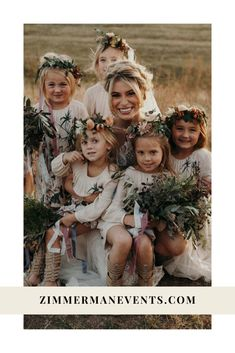 Sean Flower Girl Headpiece, Flower Girl Bouquet, Flower Girl Crown, Flower Bouquet Wedding, Spring Wedding Flower Inspiration, Spring Wedding Flowers, Floral Crown Wedding, Floral Crowns, Air Stream
