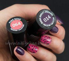 Aalimkaa: Lakiery hybrydowe Semilac 064 - Pink Rose i 014 - Dark Violet Dreams