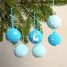 Sada vánočních minikouliček... 6 kusů