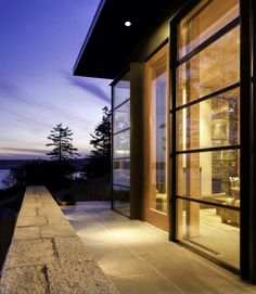 My dream house is made just like this!!! I love glass & openness