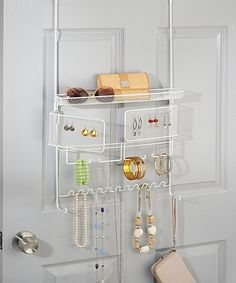 Loving this White Classico Over-the-Door Jewelry & Accessory Organizer on #zulily! #zulilyfinds