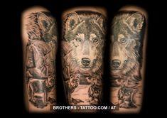 Wolf Tattoo Black and White (year Tattoo Black, Year 2016, Life Tattoos, Insta Art, Tattoo Artists, Body Art, Wolf, Ink, Black And White