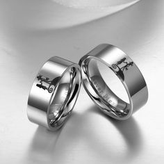 Nightmare Before Christmas Inspired Jack and Sally Ring His and Hers Rings Wedding Rings
