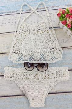 Crocheted High Neck Bikini Set | http://www.zaful.com/crocheted-high-neck-bikini-set-p_176730.html