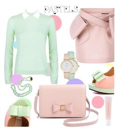 """Pretty Pastels"" by rasaj ❤ liked on Polyvore featuring Ted Baker, Pastel Pairs, Simone Rocha, RED Valentino, Lancôme and Kate Spade"