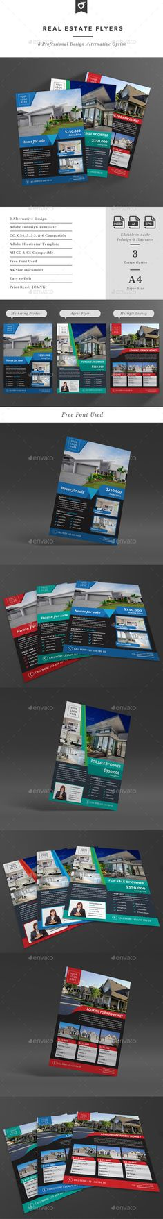 Real Estate Flyers Template #design Download: http://graphicriver.net/item/real-estate-flyers/12727580?ref=ksioks
