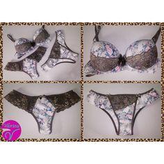 Novidades na loja! Chegaram novas peças da coleção de inverno, uma mais linda que a outra  A lingerie da foto, mistura a estampa floral com o animal print e renda, combinação perfeita para estar sempre na moda!  #Lançamento #Novidades #Inverno #Love #VitoriosaLingerie #ModaIntima