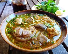 Bun Bo Hue is one of popular Vietnamese Food recipes which containing rice noodle and beef. In Vietnamese Food, there is a dish that has spread over all parts of the country as food derived from Bun. In each regions, noodle prepared according to the taste and become the specialty of each region. For a long time, Ho Chi Minh people are familiar with the presence of this delicious food in their food list. #healthy #perfectmind #perfectbody