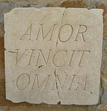 Wall Plaque 'Amor Vincit Omnia' (Love Conquers All)