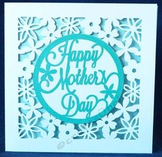 A pretty floral Mother's day cut out card measuring 13 x 13 cms with separate circle topper to add some colour.