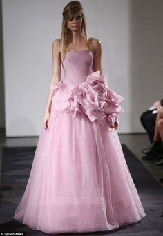 Vera Wang wedding 2014 Vera Wang described the collection as 'Pink as sensual, pink as seductive, pink as dreamy, pink as sophisticated, pink as strong, pink as co...