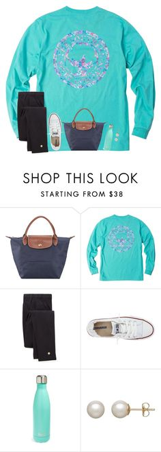 """""""I'm going to California next week!!"""" by preppy-ginger-girl ❤ liked on Polyvore featuring Longchamp, Kate Spade, Converse, S'well and Honora"""