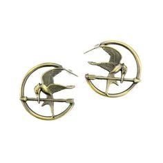 Hunger Games Girl On Fire Mockingjay Wing Option Earrings