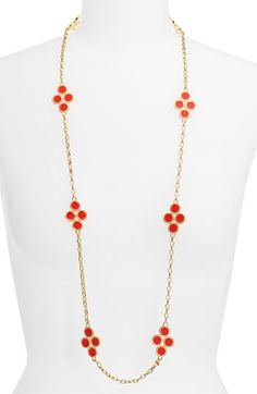 Tory Burch 'Cole' Enamel Clover Necklace available at #Nordstrom