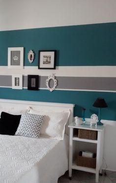 Quarto decorado com móveis usados