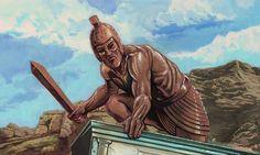 TÁLÔS (Τάλως), o Gigante de bronze que patrulhava a ilha de Kreta para guardá-la dos piratas. Foi morto pela feiticeira Medeia quando os Argonautes tentavam desembarcar da ilha