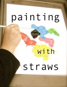 Salsa Pie: Straw Painting with the Kids #GaleriAkal Untuk berbagi ide dan kreasi seru si Kecil lainnya, yuk kunjungi website Galeri Akal di www.galeriakal.com Mam!
