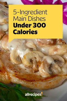 "5-Ingredient Main Dishes Under 300 Calories | ""These 10 recipes all require five ingredients or less (not counting salt, pepper, or oil), and each serving comes in under 300 calories. That leaves you with plenty of leftover calories to enjoy a few sides that can round out your dinner plate."" #healthyrecipes #healthycookingideas #dietrecipes #healthyfoods #lightrecipes #weightlossrecipes #weightlossfood Side Dish Recipes, Pork Recipes, Mexican Food Recipes, Dinner Recipes, Salad Recipes, Low Calorie Sides, Low Calorie Recipes, Healthy Recipes, Rellenos Recipe"