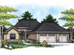 Ranch House Plan with 3069 Square Feet and 4 Bedrooms(s) from Dream Home Source | House Plan Code DHSW52251