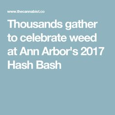 Thousands gather to celebrate weed at Ann Arbor's 2017 Hash Bash