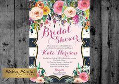 Bridal Shower Invitation Watercolor by MakinMemoriesOnPaper