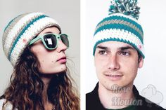 """Kit Hat"" modèles du kit coloris 700-710-060 https://www.rosemouton.com/lanas-stop-kit-hat-1394.html"