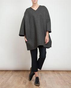 1205 Oversized Wool Tunic