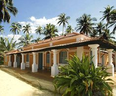 House in Goa, India shows Portuguese influence as the area was a former colony