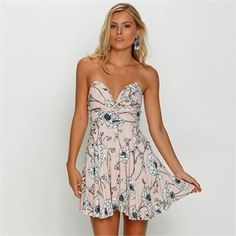 cool Mooloola What So Flower Dress Flower Dresses, Strapless Dress, Tops, Women, Fashion, Strapless Gown, Moda, Floral Dresses, Fashion Styles