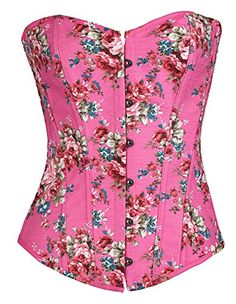 Jemis Sexy Waist Training Plus Size Flower Print Corset Top and Bustier (S, Pink) Jemis http://www.amazon.com/dp/B011GES4BU/ref=cm_sw_r_pi_dp_9TfWvb14FJH37