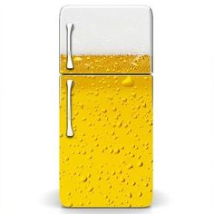 Magicskins Fridge Wrap Refrigerator Vinyl Skin Door Decal Sticker Mancave Beer | eBay