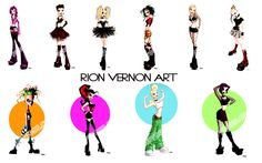 Rion Vernon pinup toons art