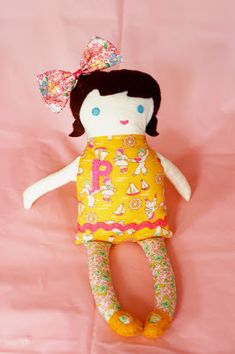 Easy and Cute Doll Pattern - Little Green Notebook