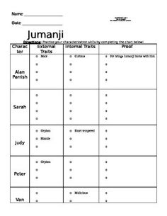 jumanji book study chris van allsburg common core like you common cores and ell. Black Bedroom Furniture Sets. Home Design Ideas