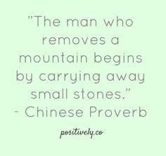 Start small...