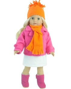"""18 Inch Doll Clothes 4 Pc. Winter Doll Outfit Set Fits 18"""" American Girl Dolls & More! (Doll Shoes & Leggings... by dollsandtoy"""