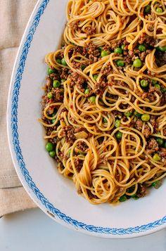 Chinese Spaghetti Bolognese, by thewoksoflife.com @thewoksoflife
