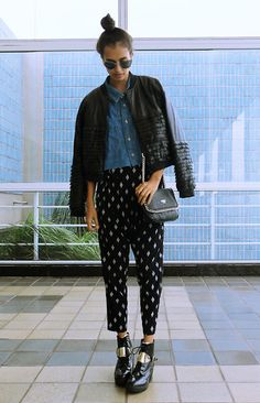 The Ragged Priest Top, Forever 21 Pants, Guess? Bag, Report Signature Boots