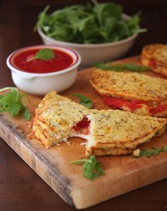 Cauliflower Crust Calzone - Grain-free, gluten-free, beyond delicious and with less than 200 calories!