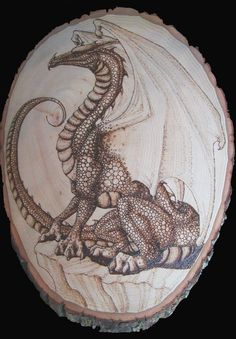 I collect - Pyrography dragons, castles, knights, wizards