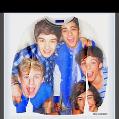 One Direction sexy sweater. This would complete my life. One Direction Merch, I Love One Direction, Ugly Sweater, Sweaters, While We're Young, 1d And 5sos, Sweater Weather, Passion For Fashion, Sexy