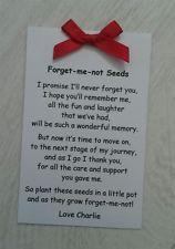Personalised Forget Me Not Seed Envelope Gift Present Nursery Pre School Teacher