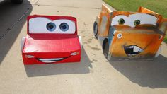 Picture Props.....MovieCars Cardboard box,we made with spray paint and paper plate wheels.