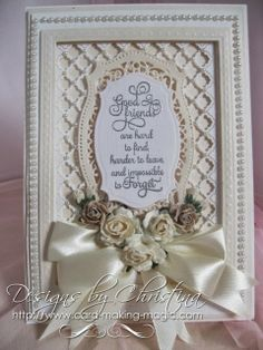 card by Christina Griffiths in soft cream and coffee colors