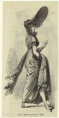 La Revolución Francesa no fue, como se piensa, un festín de Derechos Humanos. Algunos la sobrevivieron, adoptando contestariamente una moda excentrica y atrevida que rendía tributo a sus víctimas.