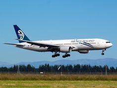 Air New Zealand 777 approaching Christchurch  Type: Boeing 777-219/ER  Registration: ZK-OKD  Location: Christchurch International Airport  Date: 01/01/2012