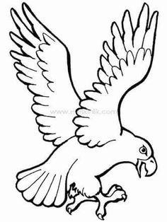 Eagle Landing Coloring Page